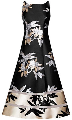 Adrianna Papell Short Jacquard Dress