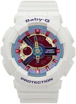 Baby-G Analog/Digital White Resin World Time Watch