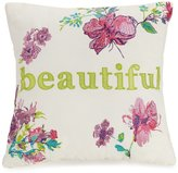 Jessica Simpson Watercolor Garden Beautiful-Embroidered Floral Square Pillow