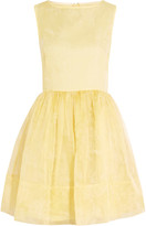 RED Valentino Pleated embroidered silk-organza dress