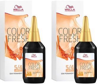 Wella Professionals Color Fresh Semi-Permanent Colour Light Red Brown 75ml Duo Pack