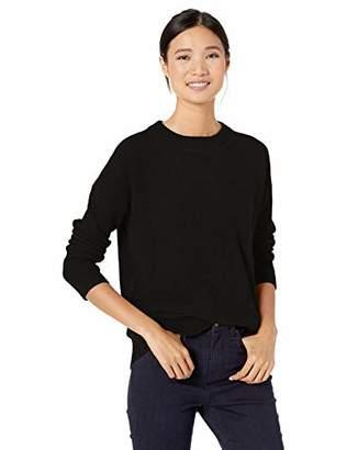 Goodthreads Wool Blend Thermal Stitch Crewneck Sweater Pullover, Light Grey Heather, S