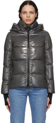 Herno Grey Laminar Glazed Jacket