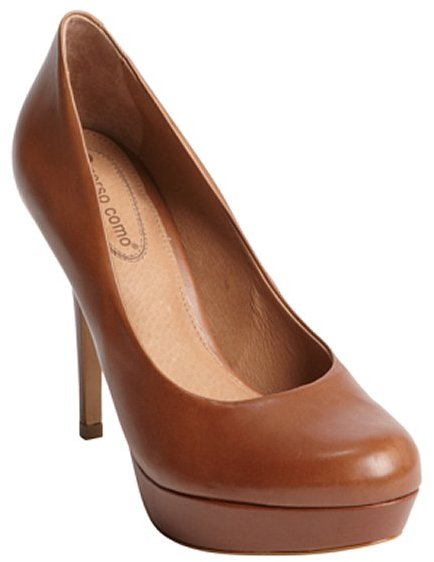 Corso Como brown leather platform 'Hollen' pumps