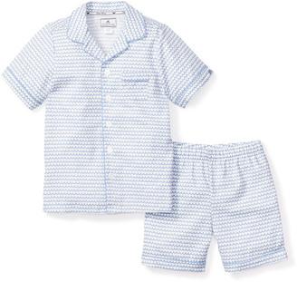 Petite Plume Boy's La Mer Classic Pajama Shorts Set, Size 6M-14