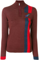 Paul Smith stripe and feather detail sweater