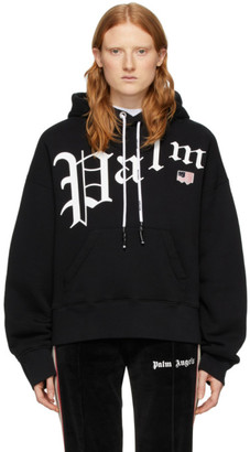 Palm Angels Black New Gothic Hoodie