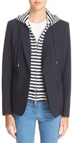 Veronica Beard Women's 'Classic' Jacket With Removable Stripe Hooded Dickey