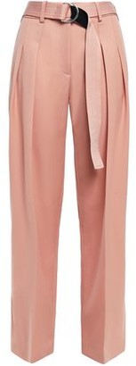 Victoria Victoria Beckham Victoria, Victoria Beckham Belted Pleated Wool-twill Tapered Pants