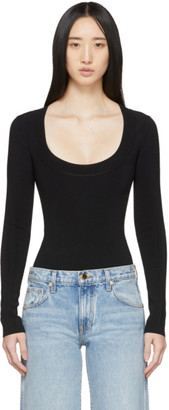 KHAITE Black Kerry Bodysuit