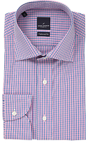 Daniel Hechter Multi Gingham Tailored Fit Shirt, Pink/blue