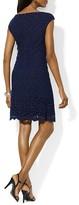 Lauren Ralph Lauren Dress - Cap Sleeve Lace Scalloped Hem Sheath