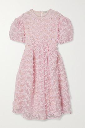 Cecilie Bahnsen Tira Appliqued Organza Dress - Baby pink