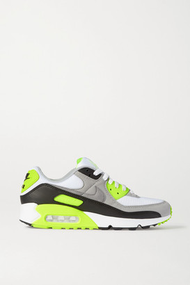 Nike Air Max 90 Leather, Suede And Mesh Sneakers - Light gray