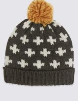 Marks and Spencer Kids' Cross Pom Hat