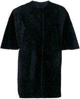 Drome furry detail coat - women - Lamb Skin/Cupro - S