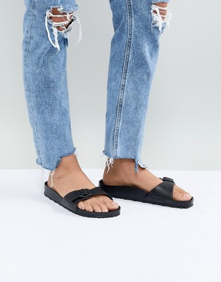 Birkenstock Madrid Eva Black Flat Slides
