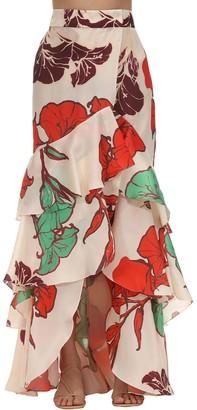Johanna Ortiz Printed Silk Organza Skirt