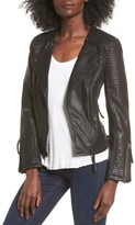 Topshop Women's Luna Faux Leather Biker Jacket