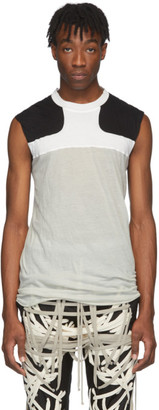 Rick Owens Off-White and Black Release Combo Lupetto Tank Top