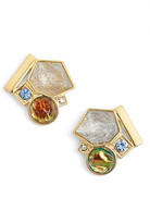 Trina Turk Mix Shape Button Earrings