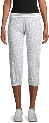 Hard Tail Print Side-Zip Cropped Joggers