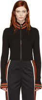 Wales Bonner Black Palms Zip-up Sweater