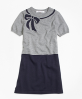 Brooks Brothers Supima® Cotton Intarsia Sweater Dress