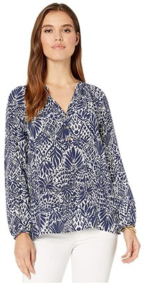 Lilly Pulitzer Elsa Top (High Tide Navy By Land Or By Sea) Women's Blouse