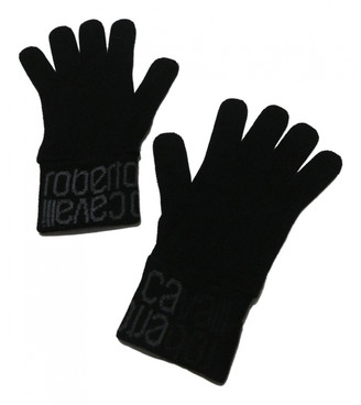 Roberto Cavalli Black Wool Gloves