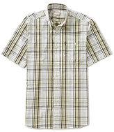 Beretta Non-Iron Drip Dry Short-Sleeve Plaid Woven Shirt