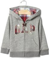 Gap babyGap + Pendleton plaid logo hoodie