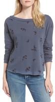 Stateside Women's Wine Floral Sweatshirt