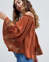 Hazel Off Shoulder Lace Cuff Blouse