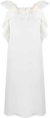 P.A.R.O.S.H. Poter pleat-trimmed dress