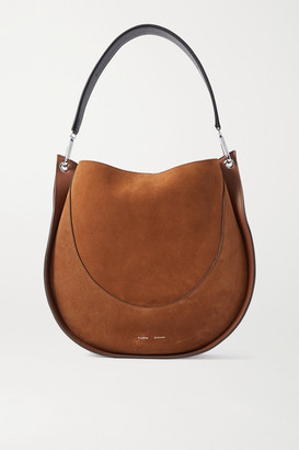 Proenza Schouler Arch Large Suede And Leather Shoulder Bag - Brown