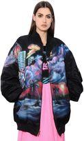Marc Jacobs Oversized Printed Nylon Bomber Jacket