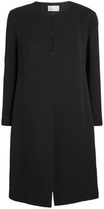 The Row Collarless Silk Jacket