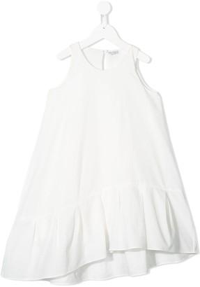 BRUNELLO CUCINELLI KIDS Asymmetric Ruffled Dress