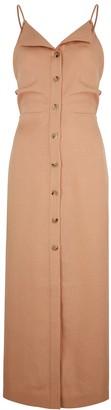 Nanushka Paz Brown Woven Midi Dress