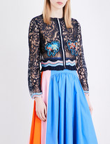 Peter Pilotto Palm-embroidered lace jacket