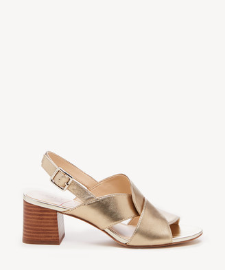 Sole Society Women's Sheann Knotted Sandals Pale Gold Size 5 Leather From