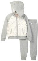 Juicy Couture Faux Fur Sequin Fleece Hoodie & Pant Set (Little Girls)