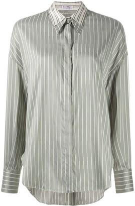 Brunello Cucinelli Striped Silk Shirt