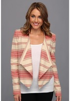 BCBGMAXAZRIA Abbey Cropped Relaxed Jacket (Red Multi) - Apparel