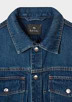 Paul Smith Men's Indigo Rinse Pleat-Front Denim Jacket