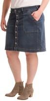 Jag Florence Denim Skirt (For Plus Size Women)