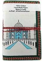 Lokta Handmade Paper Journal Diary Note Book Planner White Taj Mahal The Wonder Of World by Rastogi Handicrafts