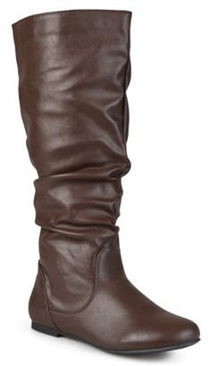 Brinley Co. Women's Extra Wide-Calf Mid-Calf Slouch Riding Boots