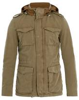 Herno Self-stowing Hood Cotton-blend Field Jacket